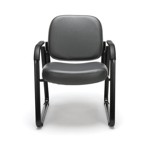 OFM Model 403-VAM Guest and Reception Chair with Arms, Anti-Microbial/Anti-Bacterial Vinyl, Charcoal ; UPC: 811588014200 ; Image 2