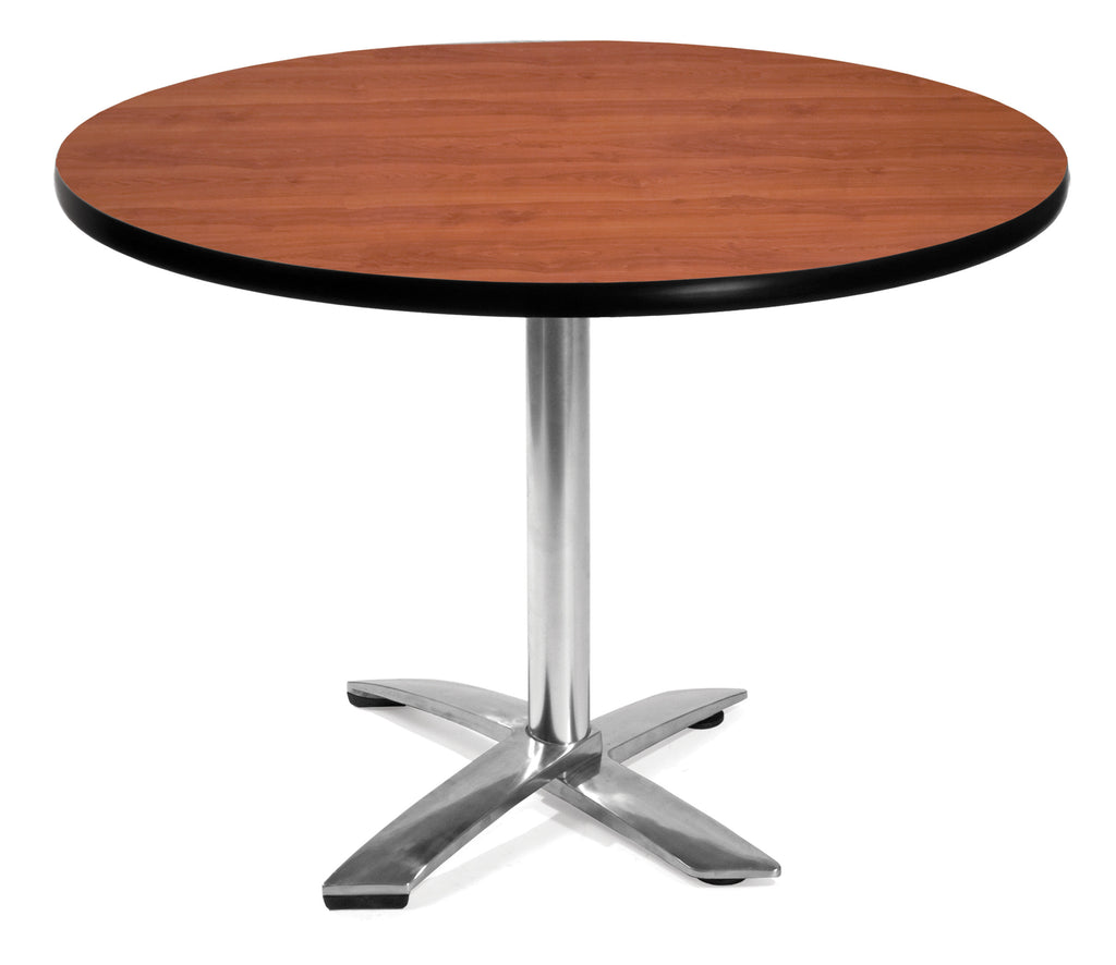 "OFM Model FT42RD 42"" Round Flip-Top Multi-Purpose Table, Cherry ; UPC: 811588010110 ; Image 1"