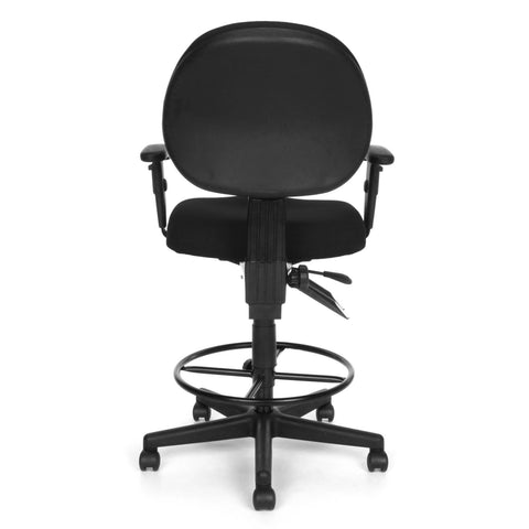 OFM Model 241-AA-DK 24-Hour Ergonomic Multi-Adjustable Upholstered Task Chair with Arms and Drafting Kit, Black ; UPC: 845123031391 ; Image 5
