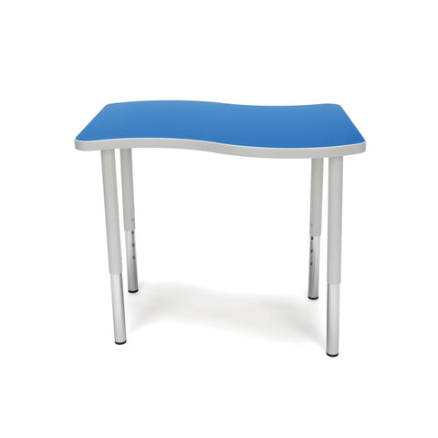 "OFM Adapt Series Small Wave Standard Table - 23-31"" Height Adjustable Desk, Blue (WAVE-S-LL) ; UPC: 845123097038 ; Image 2"