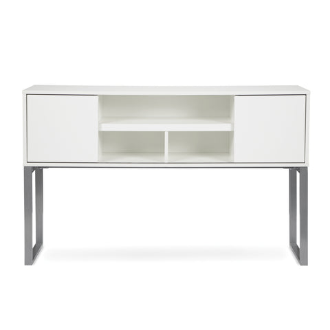 "OFM Fulcrum Series 60"" Hutch with Doors, Office Cabinet for Storage, White (CL-H6015-WHT) ; UPC: 845123097670 ; Image 2"