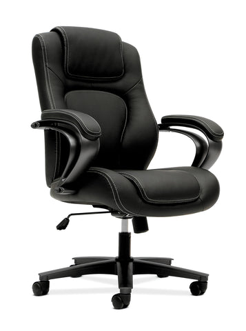 HON Managerial Office Chair- High-Back Computer Desk Chair with Loop Arms , Black (VL402) ; UPC: 089191140504 ; Image 1