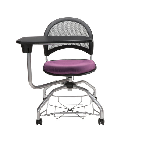 OFM Moon Foresee Series Tablet Chair with Removable Fabric Seat Cushion - Student Desk Chair, Plum (339T) ; UPC: 845123094693 ; Image 2