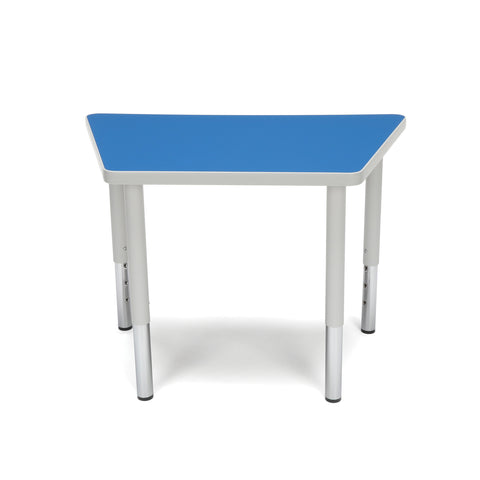 OFM Adapt Series Trapezoid Student Table - 18-26? Height Adjustable Desk, Blue (TRAP-SL) ; UPC: 845123096345 ; Image 3