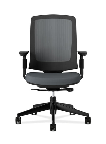 HON Lota Office Chair - Mid Back Mesh Desk Chair or Conference Room Chair, Charcoal (H2281) ; UPC: 881728407841 ; Image 2