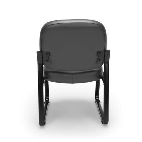 OFM Model 405-VAM Armless Guest and Reception Chair, Anti-Microbial/Anti-Bacterial Vinyl, Charcoal ; UPC: 811588014347 ; Image 3