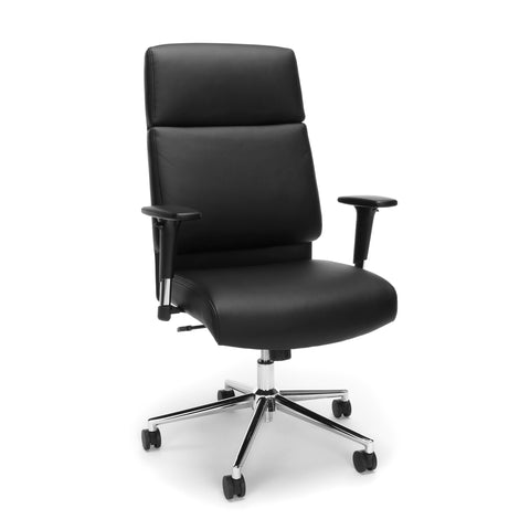 OFM Bonded Leather Manager Chair, High Back Office Chair for Computer Desk - Black (568-BLK) ; UPC: 845123095980 ; Image 1