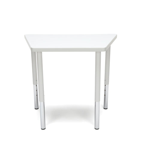 OFM Adapt Series Trapezoid Standard Table - 23-31? Height Adjustable Desk, White (TRAP-LL) ; UPC: 845123096697 ; Image 3