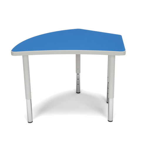 OFM Adapt Series Crescent Student Table - 18-26? Height Adjustable Desk, Blue (CREST-SL) ; UPC: 845123096260 ; Image 2