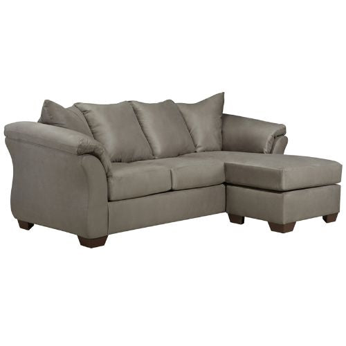 Flash Furniture Signature Design by Ashley Darcy Sofa Chaise in Cobblestone Microfiber FSD1109SOFCHCOBGG ; Image 1 ; UPC 889142015932