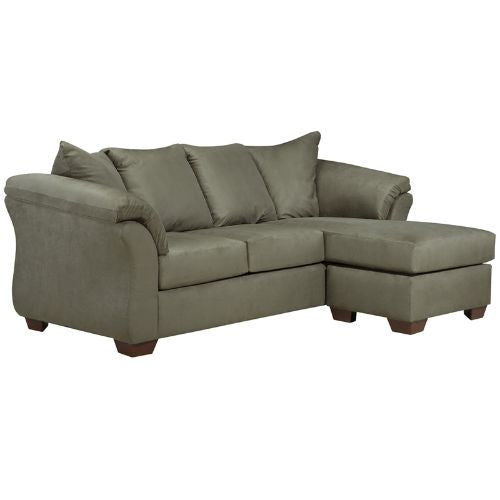 Flash Furniture Signature Design by Ashley Darcy Sofa Chaise in Sage Microfiber FSD1109SOFCHSAGGG ; Image 1 ; UPC 889142015956