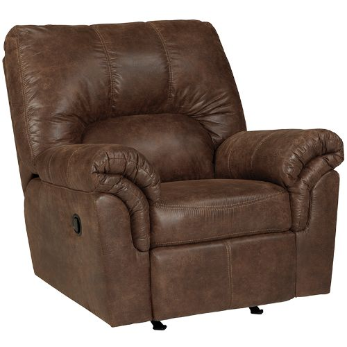 Flash Furniture Signature Design by Ashley Bladen Rocker Recliner in Coffee Faux Leather FSD1209RECCOFGG ; Image 1 ; UPC 889142085560
