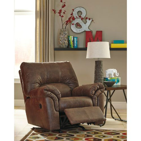 Flash Furniture Signature Design by Ashley Bladen Rocker Recliner in Coffee Faux Leather FSD1209RECCOFGG ; Image 3 ; UPC 889142085560