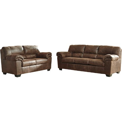 Flash Furniture Signature Design by Ashley Bladen Living Room Set in Coffee Faux Leather FSD1209SETCOFGG ; Image 2 ; UPC 889142085553