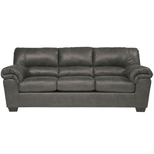Flash Furniture Signature Design by Ashley Bladen Sofa in Slate Faux Leather FSD1209SOSLAGG ; Image 1 ; UPC 889142085584