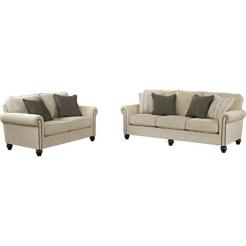 Flash Furniture Signature Design by Ashley Milari Living Room Set in Linen FSD1309SETLINGG ; Image 2 ; UPC 889142085638