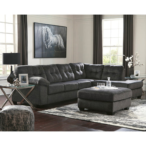 Flash Furniture Signature Design by Ashley Accrington 2-Piece Left Side Facing Sofa Sectional in Granite Microfiber FSD1339SEC2LAFSGRTGG ; Image 2 ; UPC 889142224266