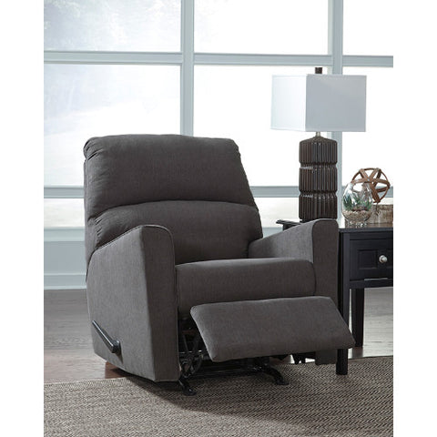 Flash Furniture Signature Design by Ashley Alenya Rocker Recliner in Charcoal Microfiber FSD1669RECCHGG ; Image 2 ; UPC 889142224297