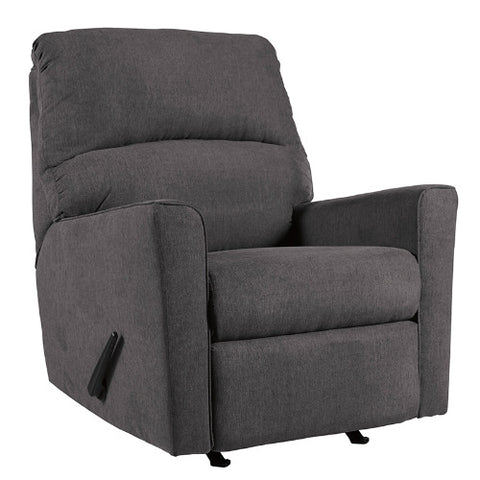 Flash Furniture Signature Design by Ashley Alenya Rocker Recliner in Charcoal Microfiber FSD1669RECCHGG ; Image 3 ; UPC 889142224297