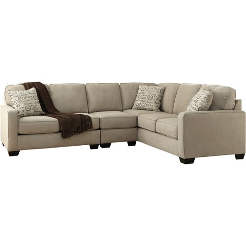 Flash Furniture Signature Design by Ashley Alenya 3-Piece Right Side Facing Sofa Sectional in Quartz Microfiber FSD1669SEC3RAFSQTZGG ; Image 2 ; UPC 889142085744