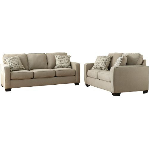 Flash Furniture Signature Design by Ashley Alenya Living Room Set in Quartz Microfiber FSD1669SETQTZGG ; Image 2 ; UPC 889142085669
