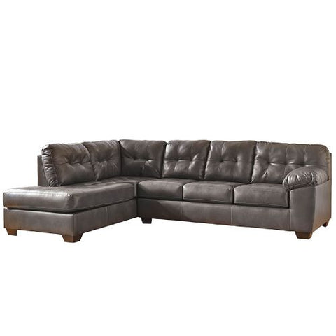 Flash Furniture Signature Design by Ashley Alliston Sectional with Left Side Facing Chaise in Gray DuraBlend FSD2399LFSECGRYGG ; Image 4 ; UPC 889142003946