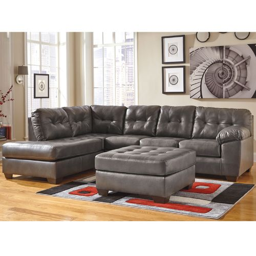 Flash Furniture Signature Design by Ashley Alliston Sectional with Left Side Facing Chaise in Gray DuraBlend FSD2399LFSECGRYGG ; Image 2 ; UPC 889142003946