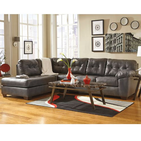 Flash Furniture Signature Design by Ashley Alliston Sectional with Left Side Facing Chaise in Gray DuraBlend FSD2399LFSECGRYGG ; Image 3 ; UPC 889142003946