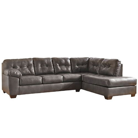 Flash Furniture Signature Design by Ashley Alliston Sectional with Right Side Facing Chaise in Gray DuraBlend FSD2399RFSECGRYGG ; Image 4 ; UPC 889142003953