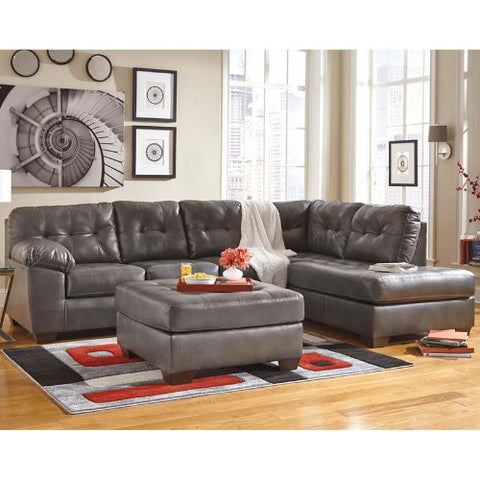 Flash Furniture Signature Design by Ashley Alliston Sectional with Right Side Facing Chaise in Gray DuraBlend FSD2399RFSECGRYGG ; Image 2 ; UPC 889142003953