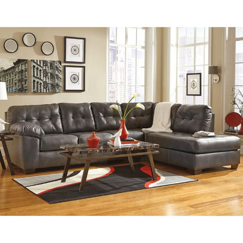 Flash Furniture Signature Design by Ashley Alliston Sectional with Right Side Facing Chaise in Gray DuraBlend FSD2399RFSECGRYGG ; Image 3 ; UPC 889142003953