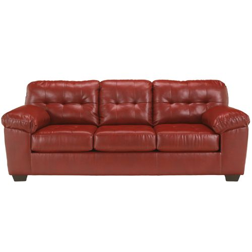 Flash Furniture Signature Design by Ashley Alliston Sofa in Salsa DuraBlend FSD2399SOFREDGG ; Image 1 ; UPC 889142016106