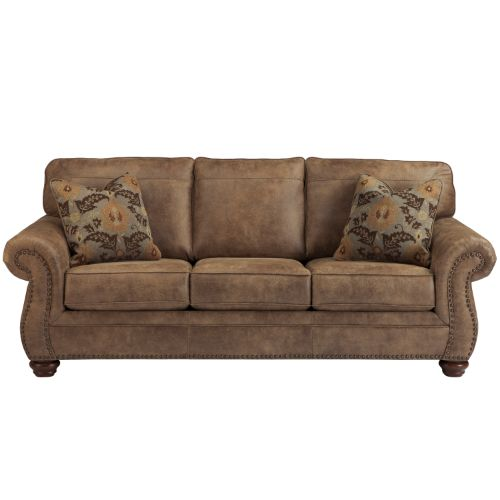 Flash Furniture Signature Design by Ashley Larkinhurst Sofa in Earth Faux Leather FSD3199SOERTGG ; Image 1 ; UPC 889142085904