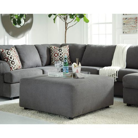 Flash Furniture Signature Design by Ashley Jayceon Oversized Accent Ottoman in Steel Fabric FSD6499OTTSTLGG ; Image 2 ; UPC 889142086000