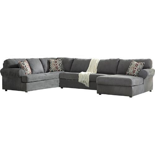Flash Furniture Signature Design by Ashley Jayceon 3-Piece Left Side Facing Sofa Sectional in Steel Fabric FSD6499SEC3LAFSSTLGG ; Image 2 ; UPC 889142085980