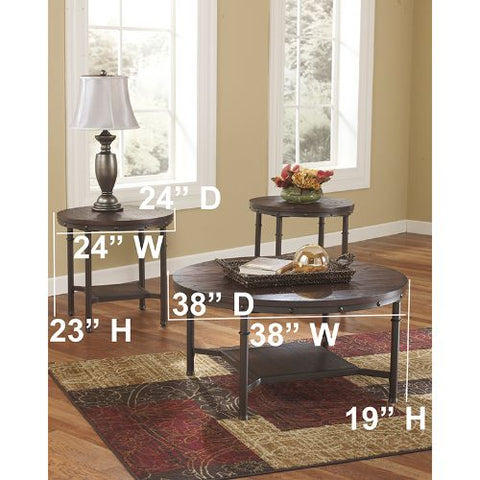 Flash Furniture Signature Design by Ashley Sandling 3 Piece Occasional Table Set FSDTS380RBGG ; Image 3 ; UPC 889142086338