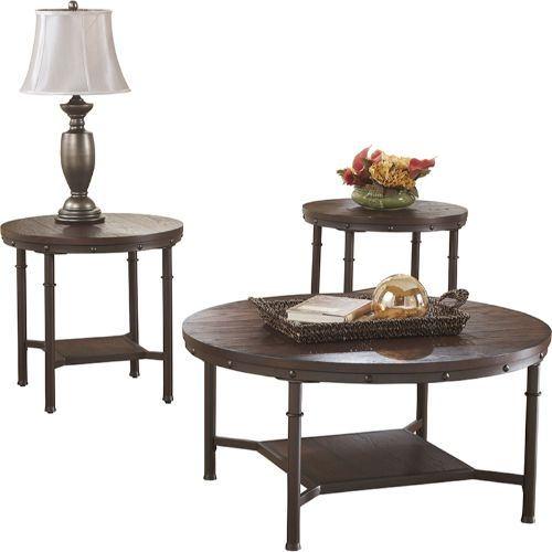 Flash Furniture Signature Design by Ashley Sandling 3 Piece Occasional Table Set FSDTS380RBGG ; Image 2 ; UPC 889142086338