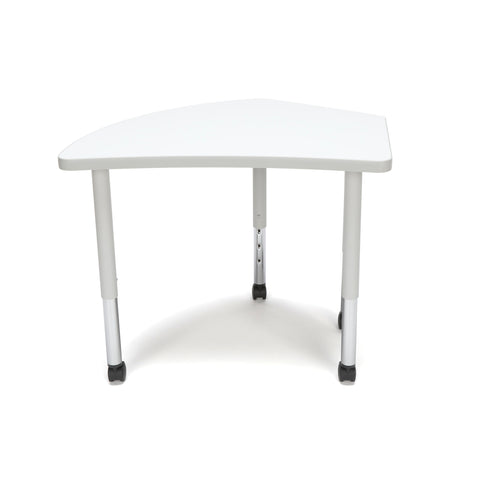 OFM Adapt Series Crescent Student Table - 20-28? Height Adjustable Desk with Casters, White (CREST-SLC) ; UPC: 845123096338 ; Image 2