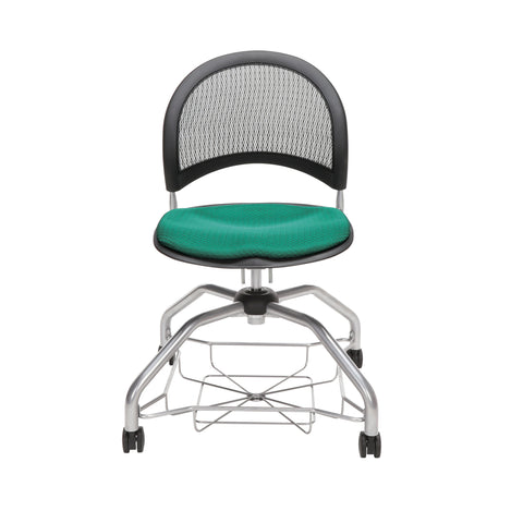 OFM Moon Foresee Series Chair with Removable Fabric Seat Cushion - Student Chair, Shamrock Green (339) ; UPC: 845123094358 ; Image 2