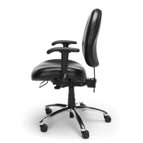 OFM Model 247-VAM 24 Hour Big and Tall Ergonomic Computer Swivel Task Chair with Arms, Anti-Microbial/Anti-Bacterial Vinyl, Black ; UPC: 811588013050 ; Image 5