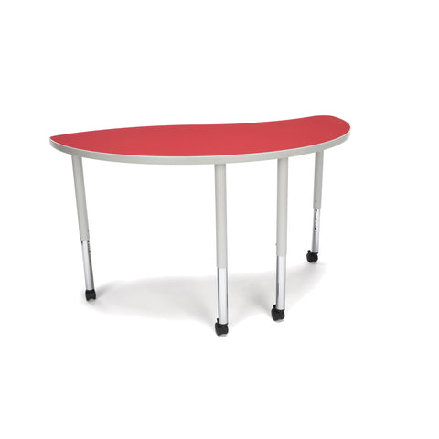 OFM Adapt Series Ying Standard Table - 25-33? Height Adjustable Desk with Casters, Red (YING-LLC) ; UPC: 845123096482 ; Image 1