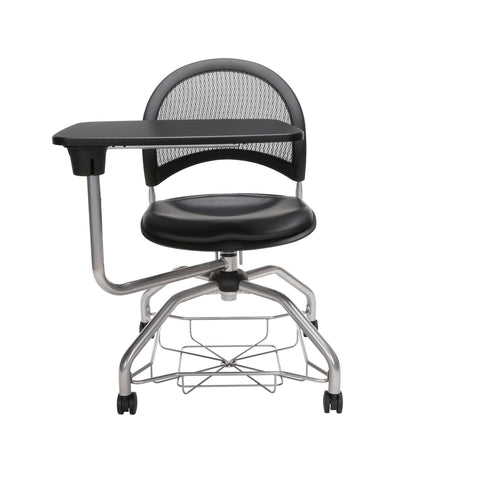 OFM Moon Foresee Series Tablet Chair with Removable Vinyl Seat Cushion - Student Desk Chair, Black (339T-VAM) ; UPC: 845123094785 ; Image 2