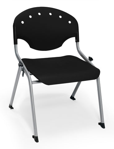 "OFM 305-16-P0 Student Stack Chair, 16"" Height, Black (Pack of 4) ; UPC: 845123021972 ; Image 1"