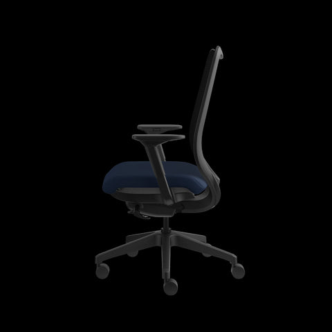 HON Nucleus Task Chair with Mesh Back, in Navy (HN1) ; UPC: 752856008142 ; Image 5