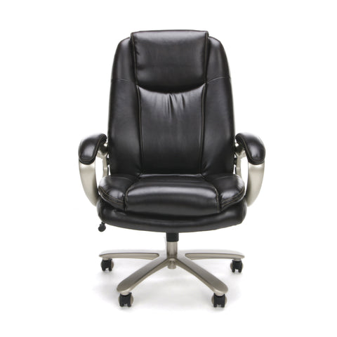 Essentials by OFM ESS-201 Big and Tall Leather Executive Office Chair with Arms, Brown/Bronze ; UPC: 845123080122 ; Image 2