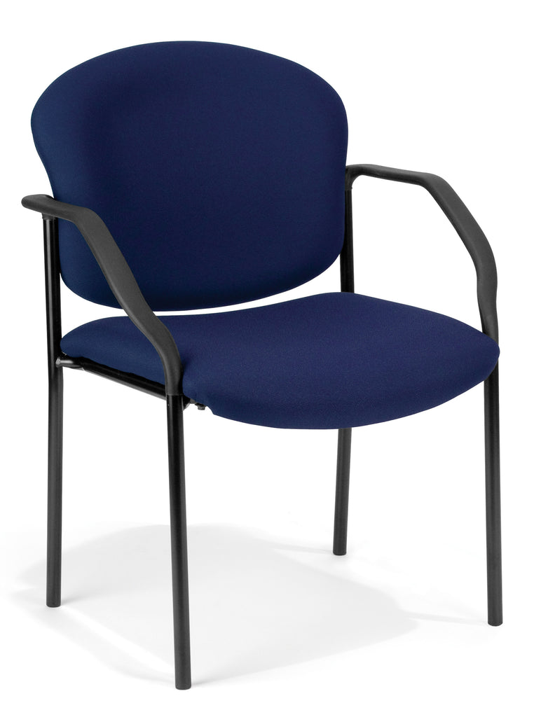 OFM 404-804 Manor Series Deluxe Upholstered Stacking Guest Chair, Navy ; UPC: 811588014002 ; Image 1