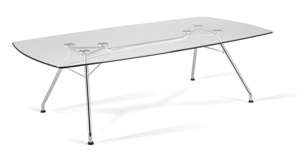 "OFM Core Collection Model GT4794 Glass Top Conference Table, 47"" x 94"" ; UPC: 845123033944 ; Image 1"