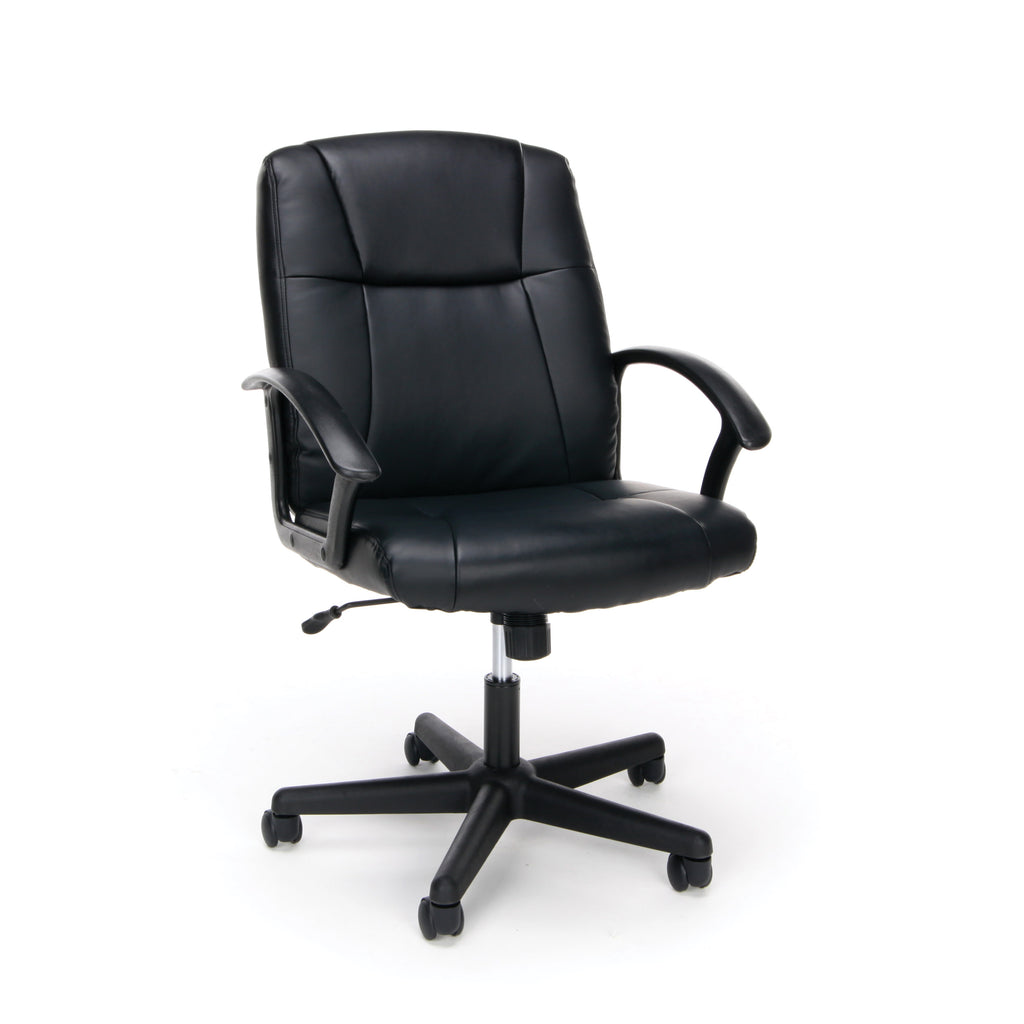 OFM Essentials Collection Executive Office Chair, Bonded Leather, in Black (ESS-6000) ; UPC: 089191013822 ; Image 1