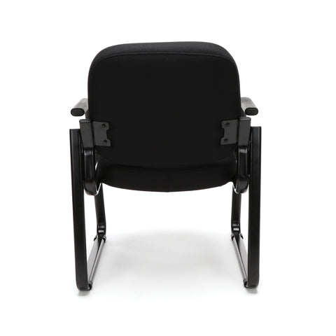 OFM Model 403 Fabric Guest and Reception Chair with Arms and Extra Thick Cushion, Black ; UPC: 811588014163 ; Image 3