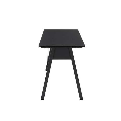 "OFM Essentials Collection 48"" Table Desk, Black Woodgrain (ESS-1050-BLK-BLK) ; UPC: 192767000123 ; Image 4"